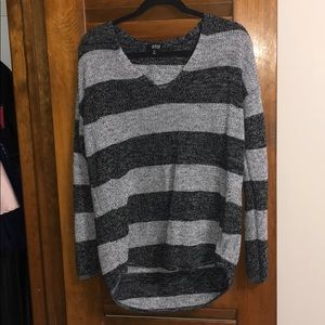 XL Grey and black striped sweater